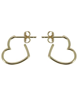 Open Heart golden hoop earrings ESTELLA BARTLETT