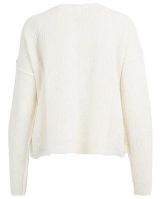 Zazow cropped loose jumper with boat neck AMERICAN VINTAGE