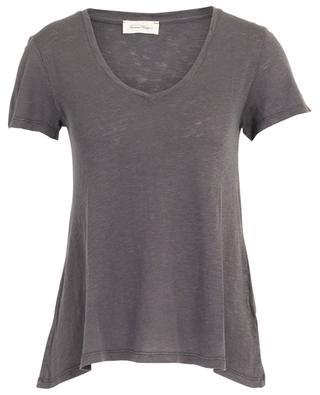 T-Shirt aus geflammtem Jersey mit V-Ausschnitt Kobibay AMERICAN VINTAGE