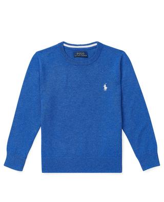 Pony embroidered mottled cotton crew neck jumper POLO RALPH LAUREN