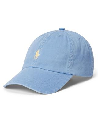 Pony embroidered faded chino cotton baseball cap POLO RALPH LAUREN