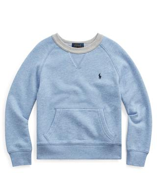 Cotton blend sweatshirt with crew neck and pocket POLO RALPH LAUREN