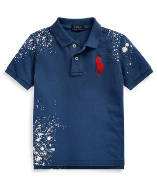 Pony logo embroidered polo with bleach stains POLO RALPH LAUREN