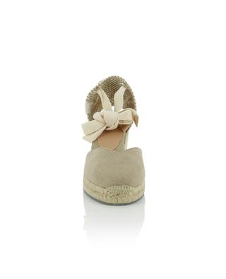Chiara sustainable leather and canvas wedge espadrilles CASTANER