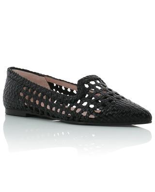 Ella braided leather pointy ballet flats PRETTY BALLERINAS