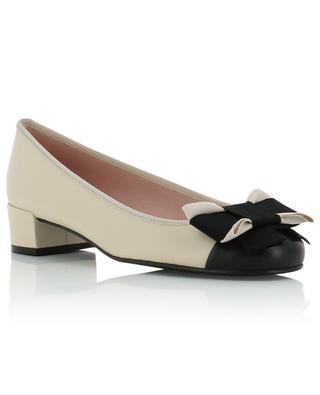 Lindsay bow adorned leather pumps PRETTY BALLERINAS