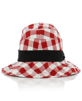 Checked cotton blend hat GI'N'GI