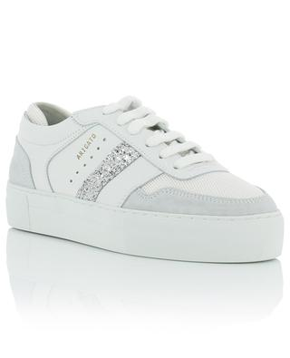 Platform leather, suede and mesh sneakers with glitter details AXEL ARIGATO