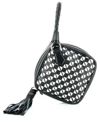Rautenförmige Mosaik-Lederhandtasche Petra SERAPIAN MILANO