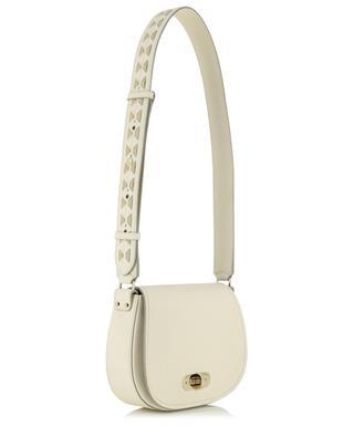 Mini Demi Luna grained leather shoulder bag SERAPIAN MILANO