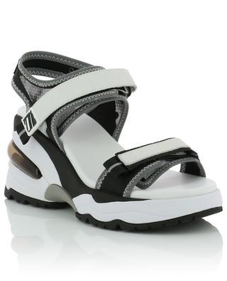 Doxa leather wedge sandals ASH