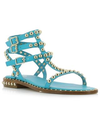 Play flat strappy sandals in studded leather ASH
