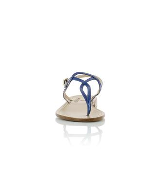 Flache Sandalen aus Leder PAOLO FERRARA