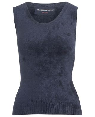 Fitted chenille knit tank top ERMANNO SCERVINO