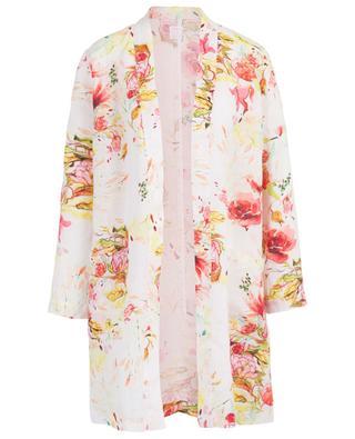 Floral print linen blazer 120% LINO