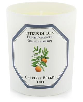 Bougie parfumée Citrus Dulcis Fleur d'Oranger - 185 g CARRIERE FRERES