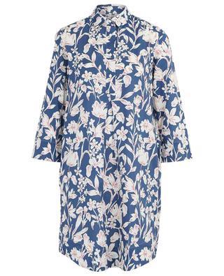 Robe chemise en popeline fleurie Elke ARTIGIANO