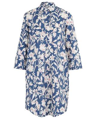 Hemdkleid aus geblümter Popeline Elke ARTIGIANO