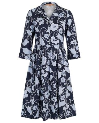 Hemdkleid aus Baumwolle mit Blütenprint LA CAMICIA