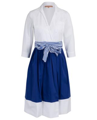 Zweifarbiges Wickel-Hemdkleid LA CAMICIA