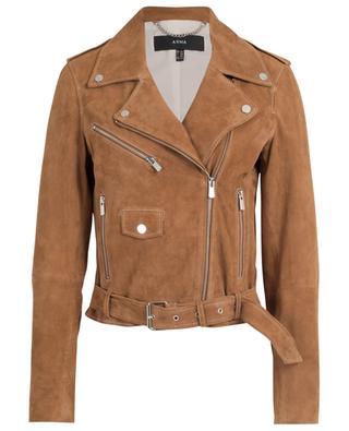 Kylie water repellent suede biker jacket ARMA