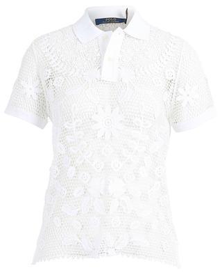 Flower embroidered short-sleeved polo shirt POLO RALPH LAUREN