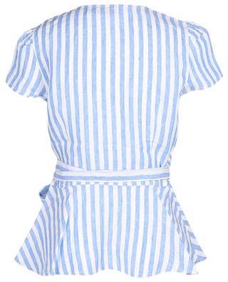 Striped linen wrap top POLO RALPH LAUREN