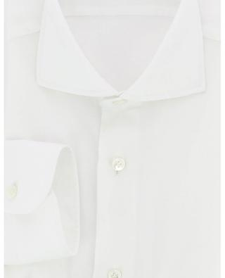 Solid coloured textured cotton shirt BARBA