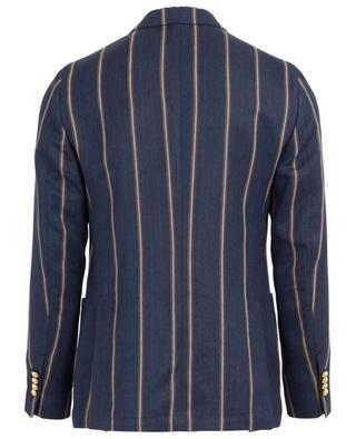 Linen striped double-breasted blazer LARDINI