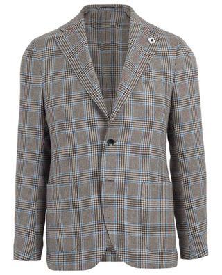 Check wool, linen and silk blazer LARDINI