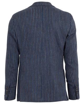 Striped wool, cotton and linen blazer LARDINI