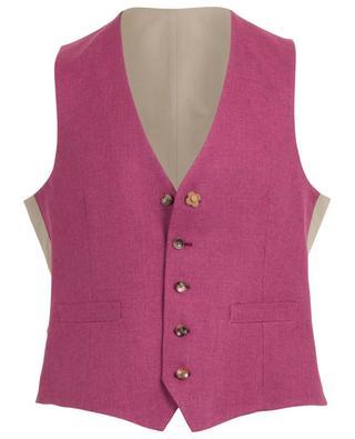 Chevron pattern wool and linen vest LARDINI