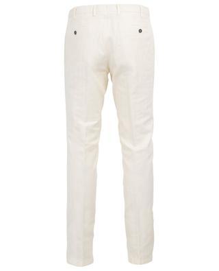 Chevron textured linen and cotton trousers LARDINI