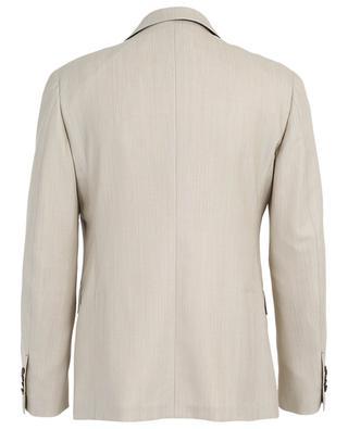 Chevron pattern wool suit LARDINI