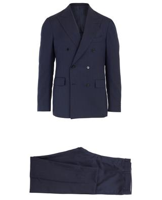 Gestreifter doppelreihiger Anzug Drop 7REG LARDINI