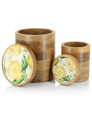 Lemon set of two boxes in wood with enamel BY ROOM