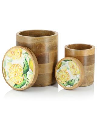 Set de deux boîtes en bois détail émail Lemon BY ROOM