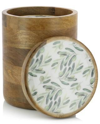Set de boîtes de rangement imprimé olives BY ROOM