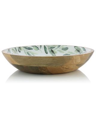 Mangoholzsalatschüssel mit Olivenprint BY ROOM