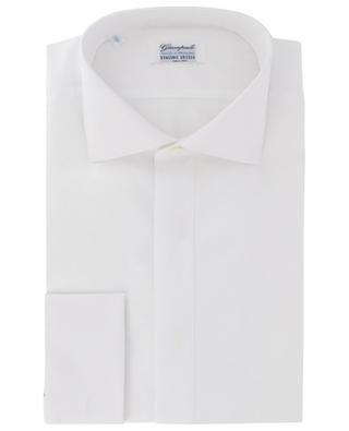 Cotton shirt with textured front bib GIAMPAOLO