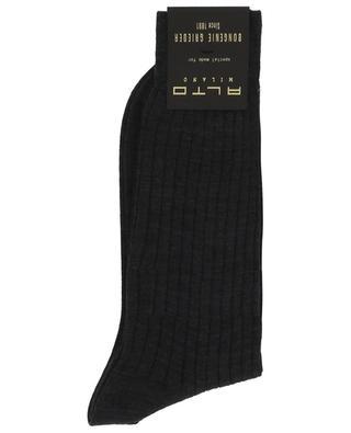 Chaussettes en laine côtelée ALTO