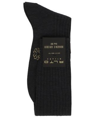 Chaussettes longues en laine côtelée ALTO