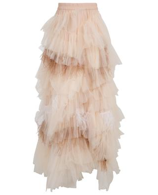 Long tulle and ostrich feather skirt TWINSET