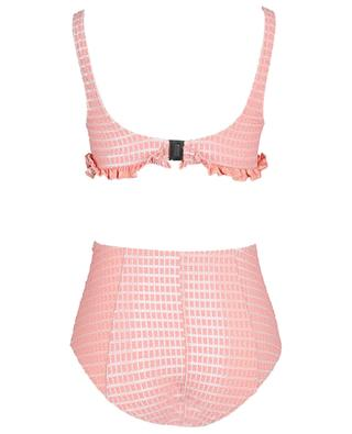 Colby Button high-rise bikini in metallic seersucker LISA MARIE FERNANDEZ