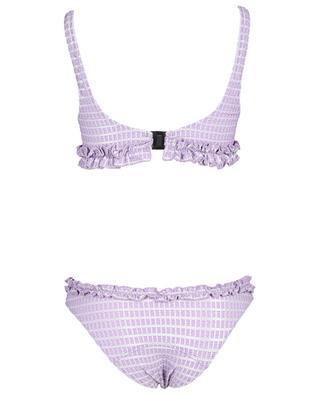Bikini en seersucker métallisé taille haute Colby Button LISA MARIE FERNANDEZ