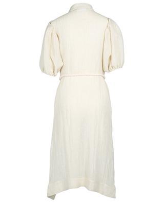 Pouf linen blend gaze shirt dress LISA MARIE FERNANDEZ