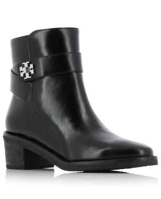 55 mm Kira smooth leather booties TORY BURCH