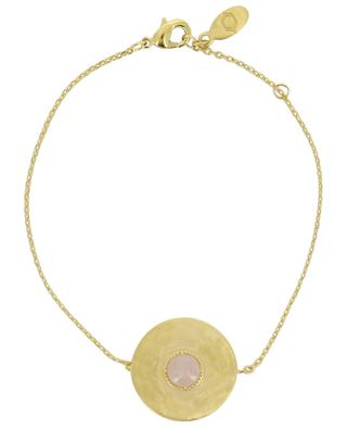 Helene gold plated bracelet with rose quartz COLLECTION CONSTANCE