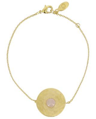Bracelet plaqué or orné de quartz rose Helene COLLECTION CONSTANCE