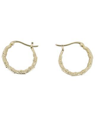 Chloris golden leaf design hoop earrings COLLECTION CONSTANCE